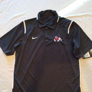 Blue Fresno State NWT Polo Shirt